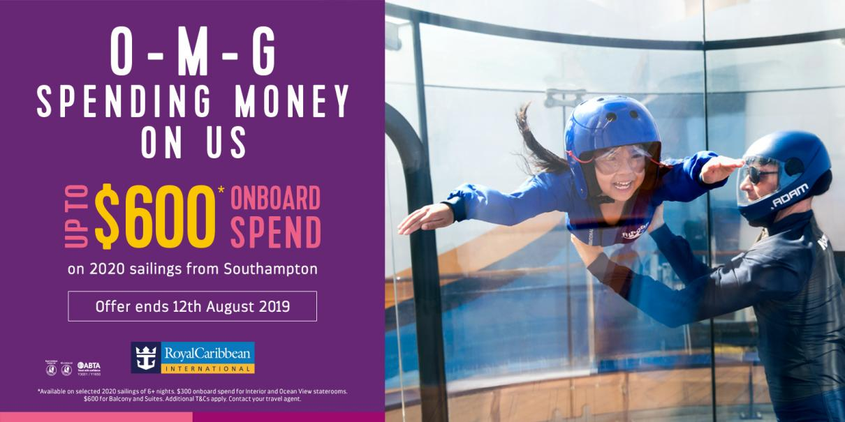 O M G – Up to $600 Per Stateroom On Board Spending Money on Anthem of the Seas