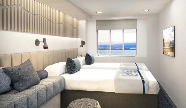 Artic Superior Stateroom Hurtigruten MS Maud - sailing year round from Dover on a choice of 4 Exciting Expedition